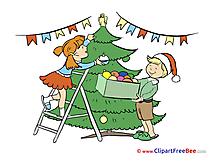 Children Tree free Illustration New Year