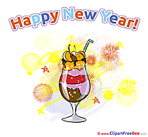 Cocktail printable New Year Images