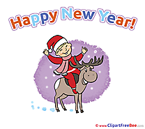 Eve Card Cliparts New Year for free