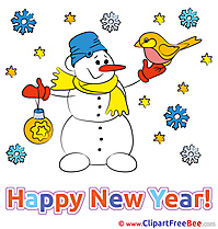 Happy Christmas printable New Year Images
