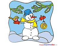Happy Snowman free Cliparts New Year