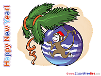 Monkey Wishes Clipart New Year Illustrations