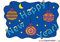 Moon Balls Pics New Year Illustration
