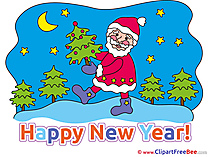 Moon Santa Claus New Year download Illustration