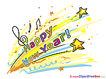 Music Clipart New Year Illustrations