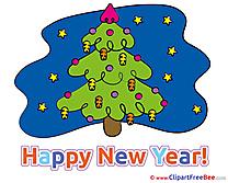 Night Tree Pics New Year free Cliparts