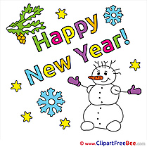 Pics Snowman New Year free Image