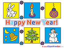 Pictures New Year download Illustration
