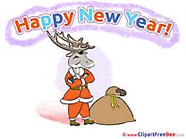 Present Deer Clip Art download New Year