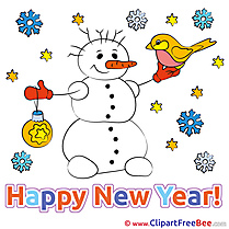 Printable Snowman Illustrations New Year