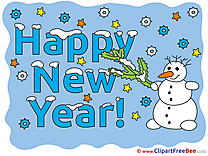 Printable Snowman New Year Images