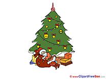 Sleeping Santa Claus Clip Art download New Year