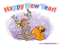 Snowflakes Deer free Cliparts New Year