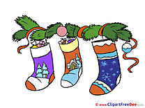Socks Clipart New Year Illustrations