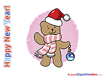 Teddy Bear Pics New Year Illustration