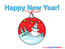 Toy Snowman printable New Year Images