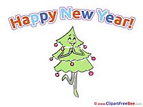 Tree Pics New Year Illustration