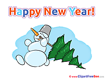 Tree Snowman download New Year Illustrations