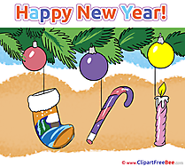 Virtual Card Clip Art download New Year