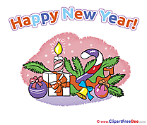 Virtual card Pics New Year Illustration