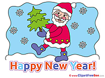 Winter Santa Claus Clipart New Year Illustrations
