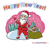 Winter Santa Claus Pics New Year free Cliparts