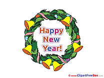 Wreath free Cliparts New Year