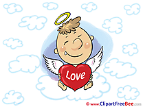 Amur Cupid Clouds printable Hearts Images