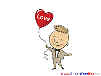 Boy Balloon Clipart Hearts free Images