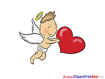 Cupid Boy Wings Hearts Clip Art for free