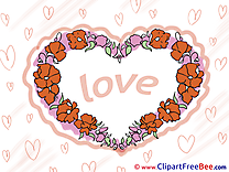 Spring Flowers Love Hearts download Illustration