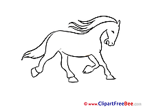 Coloring printable Horse Images