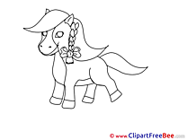 Download Coloring Clipart Horse Cliparts