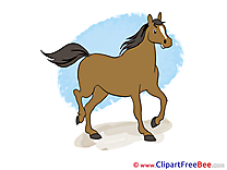 Trot Cliparts Horse for free