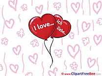 Balloons Hearts Clipart I Love You free Images