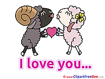 Sheeps Heart I Love You download Illustration