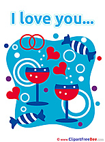 Wine Glasses Sweets Hearts Pics I Love You free Cliparts