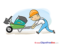 Builder Cart Pics download Illustration
