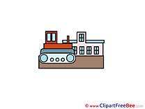 Building Bulldozer Pics free Illustration