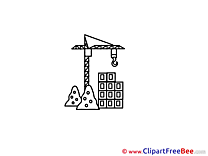 Construction Crane Clipart free Illustrations