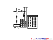Crane Building Clipart free Image download
