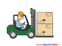 Loader Car Clipart free Illustrations