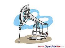 Oil Derrick printable Illustrations for free