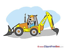 Tractor free printable Cliparts and Images