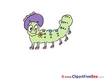 Centipede Pics printable Cliparts