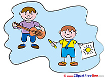 Artists Kids download Clipart Kindergarten Cliparts