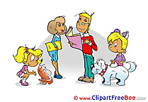 Family Kindergarten Clip Art for free
