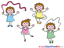 Funny Girls Clipart Kindergarten Illustrations