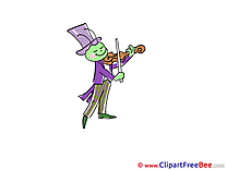 Violin Cricket printable Illustrations Kindergarten