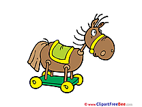 Wooden Horse Kindergarten Illustrations for free